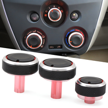 3pcs/set Car styling Air Conditioning heat control Switch AC Knob car accessories for Nissan new Sunny March(China)