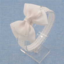 headwear Bow Headband organza Bowknot lace Headbands Hair Accessories Girls grosgrain ribbon Bow hairband headwear hairbands(China)