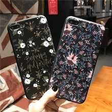 New Brand Cute Small Flowers Patterned back Case for Apple iPhone 6 7 s 6s Plus TPU Phone Cases 4.7 5.5 inch Cover RU USA PL BY