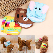 Reusable Dog Diaper Belly Band Cotton Physiological Underwear Wrap Nappy Cartoon Bear Elephant Pets Sanitary Pants for Male Dog