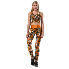 Halloween Skulls Novelty 3D Printing Tank Tops Casual Sexy Slim Workout Fitness Pumpkin Lantern Cartoon Top(China)