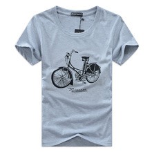 new Arrival 2017 Brand Summer Men's Fashion Cotton Short-sleeve 3D Printed bicycle Men's T Shirt Men Tops T Shirts