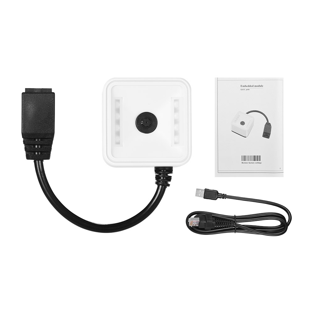 Aibecy 2D//QR//1D Embedded scanner Module bar codice Scanner Scan Engine con cavo RS232