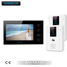 HOMSECUR Luxury Video Door Phone Intercom System With 700TVL Camera For Villa House 2V1