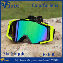 New style country cross Snow Snowboarding Glasses snow UV- Protection Multi-Color double anti-fog lens Snowboard Ski Goggle