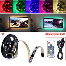12-15lm/pc 5V Led Strip Light USB Power TV 1M / 2M Backlighting Kit Set W/17key Controller With High Signal Receiving Capacity