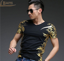 Buy TBAIYE New Fashion Men T shirt Luxury Brand 2017 Casual Short Sleeve O-neck Slim Cotton Print T-shirt Tops Tee Mens Clothing for $12.14 in AliExpress store