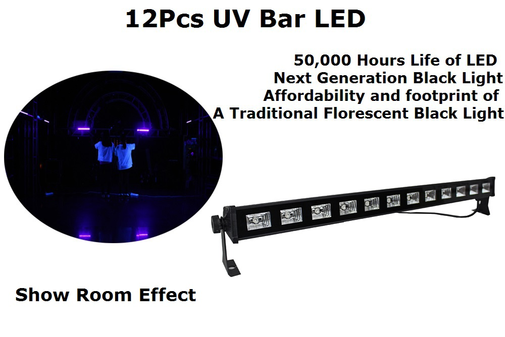 20 Unit Carton Package 12X3W LED Bar Lights UV Single Color LED Wall Washer Lights Switch Control Dj Lighting Shows Equipments<br>