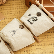 Creative Home Supplies Receive Bag Vintage Pattern Wardrobe Wall Hanging Cotton Bag Portable