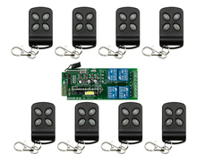 85v~250V 110V~ 220V 4CH RF Wireless Remote Control Relay Switch Security System Garage Doors Gate Electric Doors