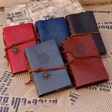 1pcs Classic Vintage Retro Leather Blank Diary Notebook Journal Travel Notepad