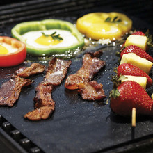 40*33cm BBQ Grill Mat 2 sheets /lot Non-Stick Reusable Make Grilling Easy BBQ