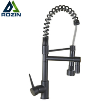 Pull Down Sprayer Hot and Cold Water Kitchen Sink Faucet Mixer Taps with Bracket Bar Kitchen Faucets Deck Mounted Dual Spout