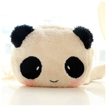Cute Cartoon Cat Panda Shape Soft Plush Cosmetic Makeup Bag Pouch Pen Pencil Case Organizador