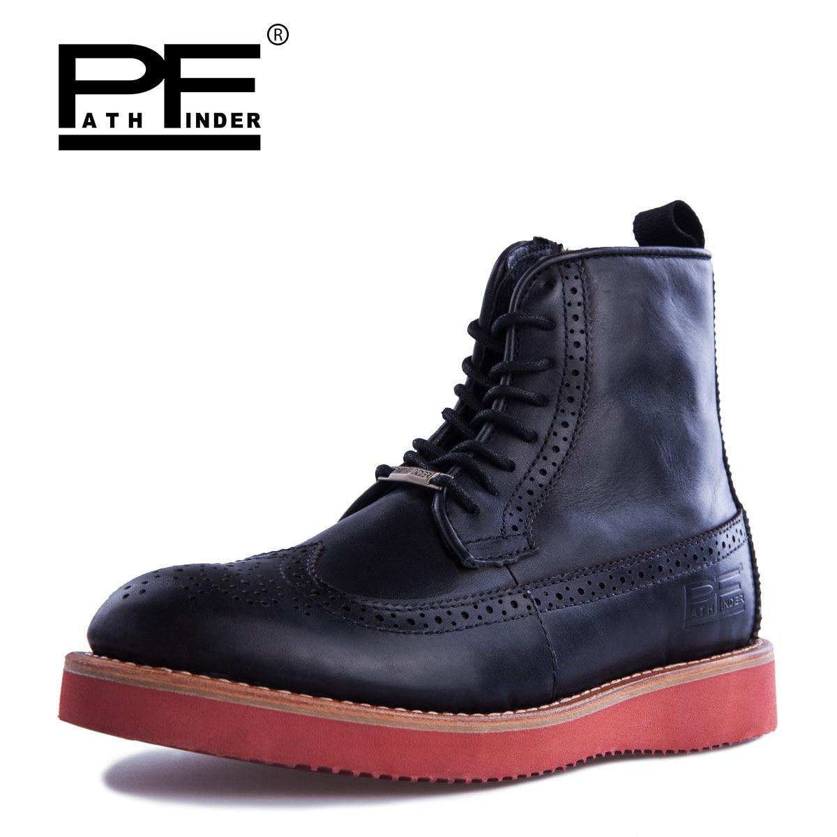 Pathfinder 100% Genuine Leather High Quality Mens Botas Original Brand Design Four Seasons Casual Martin Botas Warm Winter Shoes<br><br>Aliexpress