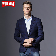 Limited Brand Casual Slim Fit Blazer Men Clothing Masculino Autumn Mens Jacket Winter Suit Single Button Wedding Dress Male Coat(China)