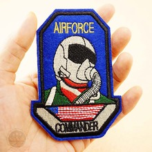 AIRFORCE Size:7.2x10.2cm DIY Clothes Badge Embroidery Patch Applique Clothes Iron On Clothing Sewing Supplies Decorative