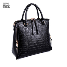 XIYUAN BRAND Individual Crocodile Designer Big Capacity Ladies Bags New Tassel Embossed PU Leather Cross Body red Handbags Women