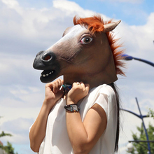 High Quality Full Face Horse Mask Halloween Masquerade Party Latex Mask Creepy Cosplay Scary Face Mask