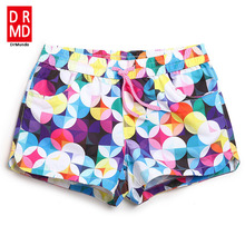 Women board shorts swimming trunks female swimsuits loose sexy short Geometric patterns running shorts joggers bodybuilding