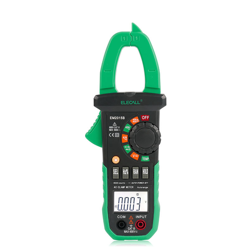 Hot sale Duty Cycle Digital Clamp Meter With Torch Temperature And Resistance Capacitance Measurement  EM2015B<br><br>Aliexpress