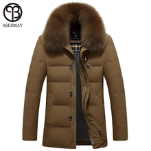Asesmay brand new arrival men down jacket winter men's duck down jackets thick warm wellensteyn jacket natural fur snow coats(China)