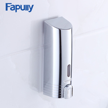 Fapully Kitchen Bathroom Soap Dispenser Wall Mount Single Chrome Automatic Liquid Foam Bamboo Dispenser P113-01C(China)