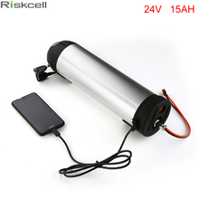 Free Tax Electric Bike Battery 24V 15AH Water bottle 18650 li ion Battery 24V 350W E-Bike kettle battery with Charger+BMS+USB(China)