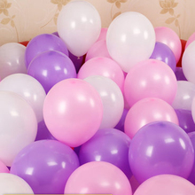 ZHUTOUSAN 50pcs Mix Purple 10inch Thicken 2.2g Birthday Party Decor Wedding Party Balloons Light Pink Matte Color Globos(China)