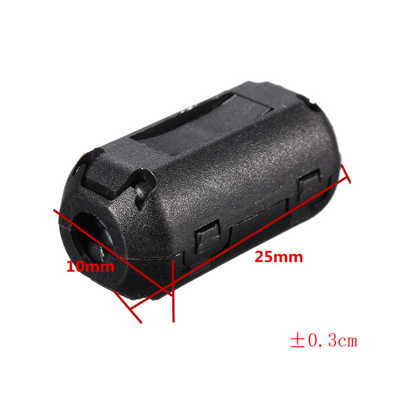 Black 15pcs 11mm Clip-on Clip on RFI EMI Filter Snap Around Ferrite Gray