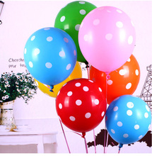10pcs/lot 9 Colors Available 12inch Latex Polka Dot Balloons for Party Wedding Birthday Decoration Free Shipping(China)