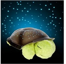 5 Colors Free shipping Musical Turtle Night Light Stars Constellation Lamp w/colorful box