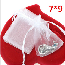 Mini Jewelry Gift Bags White Organza Bags 7*9cm Pretty Pouches Fit For Wedding Gift Bags Free Shipping