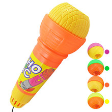 1pc cute Echo Microphone Mic Voice Changer Toy Gift Birthday Present Kids Party Song gift  A# DROPSHIPPING