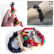 New Portable Metal Bracelet Smoke Smoking Pipe Jamaica Rasta Weed Pipe 3 Colors Gift for both man and women GYH