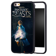 Fantastic Beasts and Where to Find Them Printed Soft TPU Skin Phone Cases For iPhone 6 6S Plus 7 7 Plus 5 5S 5C SE 4 4S Cover