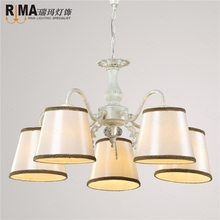hotsales white painted classical chandelier with lights down pendant lamp for living room popular for russia market