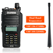 128CH Dual Band VHF 136-174MHz&UHF 400-520MHz Talkie Walkie Transceiver Two Way Radio Portable Handheld Waterproof Flashlight(China)