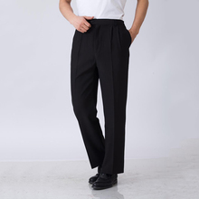 High Quality Elastic Waist Chef Working Pants Hotel Restaurant Black Clothing Waiter Trousers Men Chef Pants(China)