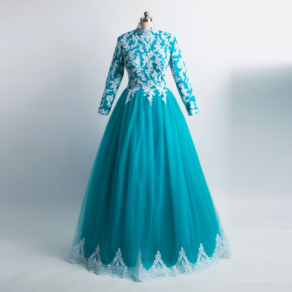 Compra vestido de novia con color azul online al por mayor de China ...