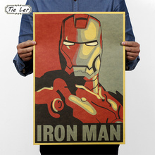 TIE LER Hollywood Movie Poster Adornment Picture Design Drawings Nostalgic Retro Kraft Paper Poster Decorative Wall Sticker