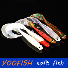 10.5CM 6.5G 5pcs sea  Fishing lures ice fishing tackle protein soft silicon fish bait wobblers jigging swivel rubber lure