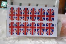 RU2PCS Y5025 Manicure Glitter Decor Foil Decals Adhesive Nail Art Stickers UK British flag Full Cover Nail Wraps Sticker(China)