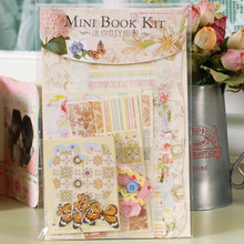 1Pcs/Lot Mini Book Kit Scrapbook Kit DIY Picture Album Scrapbook Handmade Crafts Paper Crafts Christmas Toys