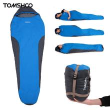 TOMSHOO 212 * 70cm Portable Sleeping Bag Ultralight Cotton Nylon Mummy Shape Outdoor Camping Travel Hiking Sleeping Bag