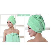 Women Solid Color Super Absorbent Quick-drying Microfiber Hair Turban Quickly Dry Hair Hat Wrapped Towel Bath Shower Cap