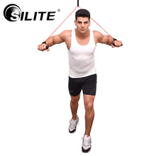 SILITE Elastic Sports Bands Length 120cm Fitness Gym Equipment Resistance Training Bands Tube crossfit Workout Exercise Rubber(China)