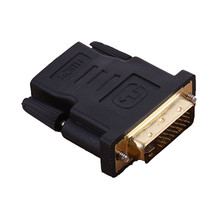 New DVI 24+5 Male to HDMI Female Converter Gold Plated Adapter Converte 1080P for HDTV LCD DVI-I 1Pcs(China)