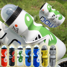 Portable Water Bottle Outdoor Bike Bicycle Cycling Mountain Plastic 650ML Sports Drink Jug