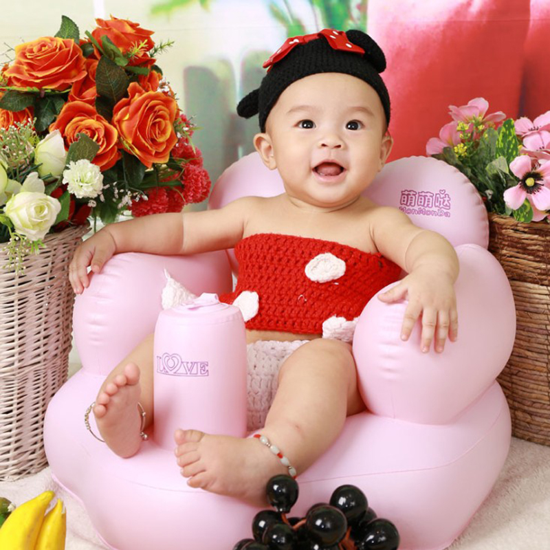 Baby Inflatable Chair Seats PVC Infant Bath Seats Playing bathing ...
